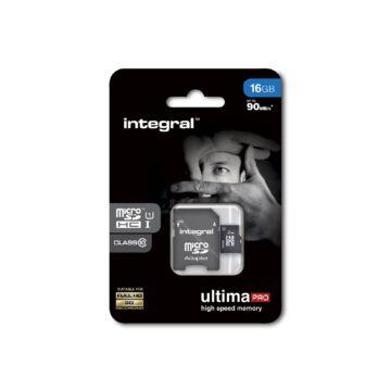 Integral Ultima Pro 16GB Micro SDHC memóriakártya 90 MB/s INMSDH16G10-90U1