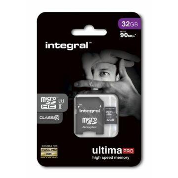 Integral Ultima Pro 32GB Micro SDHC memóriakártya 90 MB/s INMSDH16G10-90U1