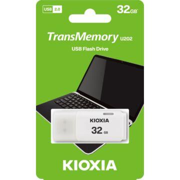 LU202W032GG4 KioxiaPendrive 32GB Hayabusa U202 USB 2.0 Fehér
