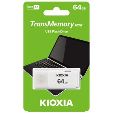 LU202W064GG4 KioxiaPendrive 64GB Hayabusa U202 USB 2.0 Fehér
