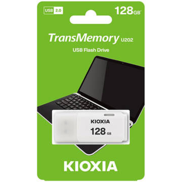 KioxiaPendrive 128GB Hayabusa U202 USB 2.0 Fehér