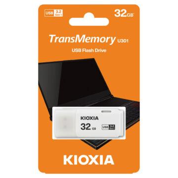 LU301W032GG4 KIOXIA PENDRIVE 32GB HAYABUSA U301 USB 3.2. GEN.1 FEHÉR