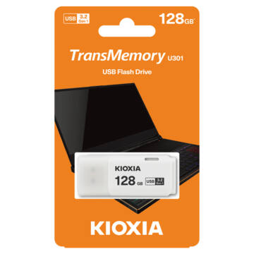 LU301W128GG4 Kioxia Pendrive 128GB Hayabusa U301 USB 3.2. gen.1 Fehér