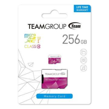 TCUSDX256GUHS46 Team Group Colour 256GB micro SDXC memóriakártya + Adapter Pink