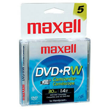 Maxell DVD+RW 1.4GB 8CM Mini Slim Case (5) - 276020.00.TW