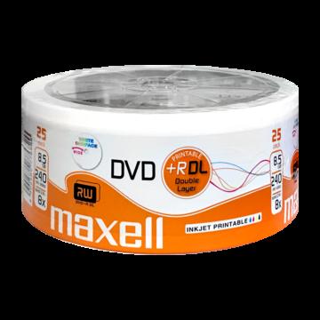 Maxell DVD+R DL 8X 8,5 GB Nyomtatható Lemez - Shrink (25) - 276078.40.TE