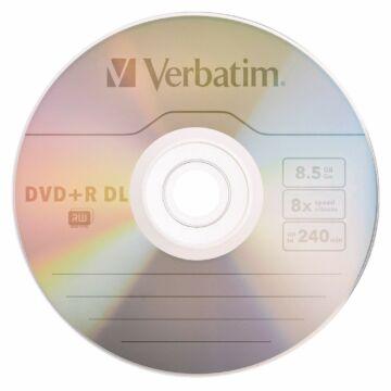 Verbatim DVD+R DL 8X 8,5 GB Lemez - Papírtokban (10) - 43666/P
