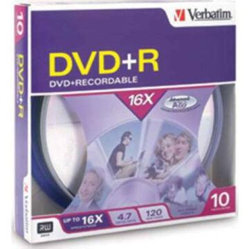 Verbatim DVD+R 4.7GB 16x  BOX Cake (10) - 95032