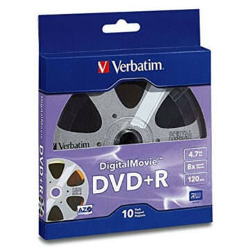 Verbatim DVD+R 4.7GB 16x Digital Movie Shrink 10 - 95857