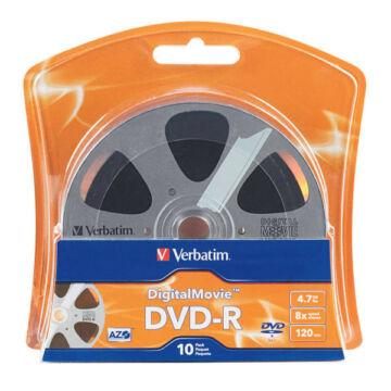 Verbatim DVD-R Digital Movie Edition 16X Lemez - Shrink (10) - 96856