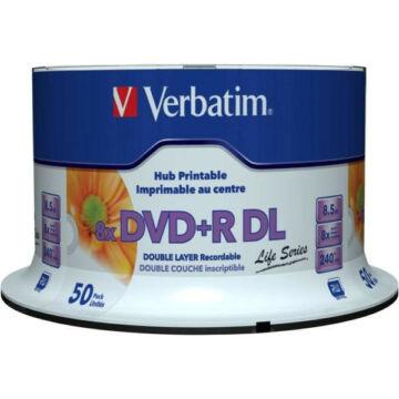 Verbatim DVD+R 8x 8.5GB DL Life Series Printable Cake (50) - 97693