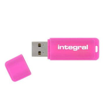 4GB Integral USB 2.0 pendrive -  Neon rózsaszín - INFD4GBNEONPK