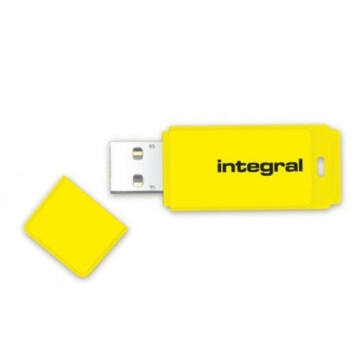 4GB Integral USB 2.0 pendrive -  Neon sárga - INFD4GBNEONYL