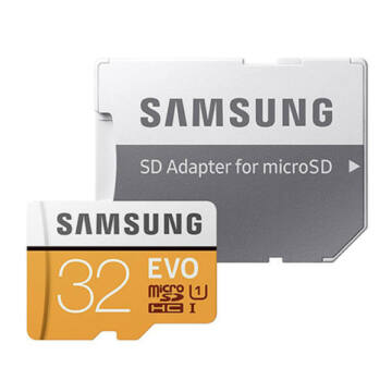 Samsung 32GB Micro SDHC Memóriakártya UHS-I Evo Class 10 + Adapter - MB_MP32GA_EU