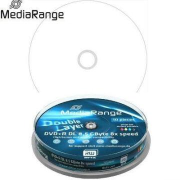 MediaRange DVD+R 8x 8.5GB DL Nyomtatható Felületű Lemez Cake (10) - MR468