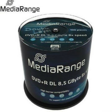 MediaRange DVD+R 8x 8.5GB DL Cake (100) /MR470/ - MR470