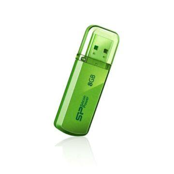 Silicon Power 8GB Helios Pendrive 101 USB 2.0 Zöld - SP008GBUF2101V1N