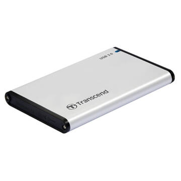 Transcend Storejet 2.5'' Külső USB 3.0/Sata Merevlemez Ház Ezüst - TS0GSJ25S3