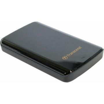 Transcend Storejet 25D3 1TB Ext. HDD Külső Merevlemez 2.5'' USB 3.0, Sw Elite, 256Bit Aes, Fekete - TS1TSJ25D3