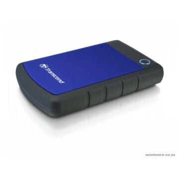 Transcend Storejet 25H3B 1TB Ext. HDD Külső Merevlemez 2.5'' USB 3.0, Sw Elite, Otb, Kék - TS1TSJ25H3B