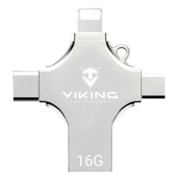 16GB VIKING pendrive 4az1-ben ( LIGHTNING. USB-C. MICRO USB. USB-A) - VUF16GBS