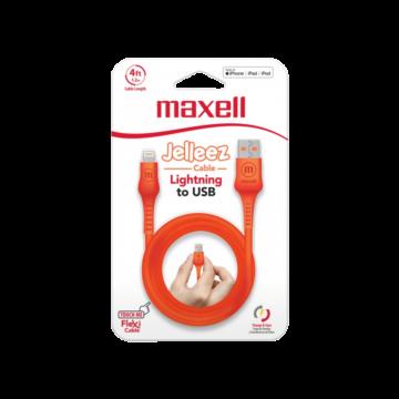 Maxell Jelleez Lightning kábel [1,2m] Narancssárga