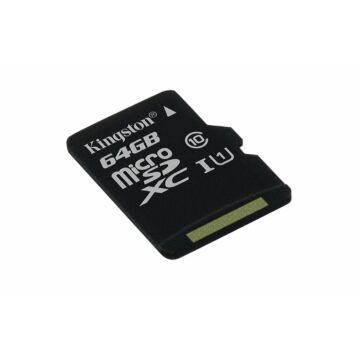 Kingston Canvas Select 64GB microSD memóriakártya Class 10 UHS-I (80MB/s olvasás) (SDCS/64GBSP) - SDCS_64GBSP