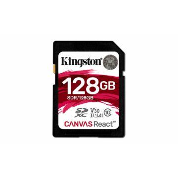 Kingston 128GB Canvas React SDXC Memóriakártya (100/80 Mb/s) - SDR/128GB