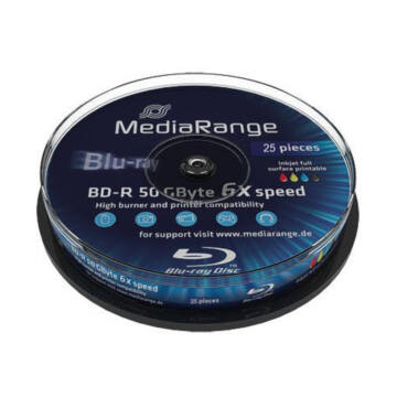 Mediarange BD-R DL 6X 50 gB Blu-Ray Lemez - Cake (25) - MR508