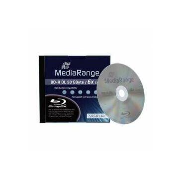 Mediarange BD-R DL 6X 50 gB Blu-Ray Lemez - Normál Tokban (1) - MR506
