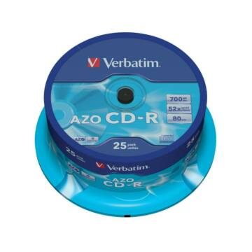 Verbatim CD-R 52X Lemez, Crystal Azo Réteg - Cake (25) - 43352