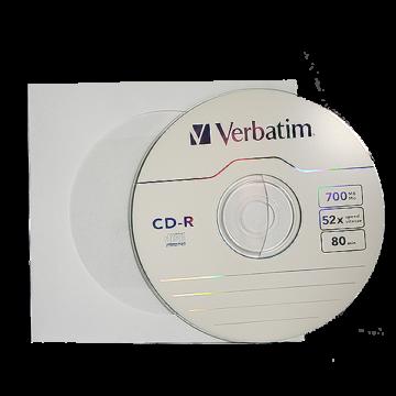 Verbatim CD-R 52X Lemez - Papírtokban (10) - 43411_P