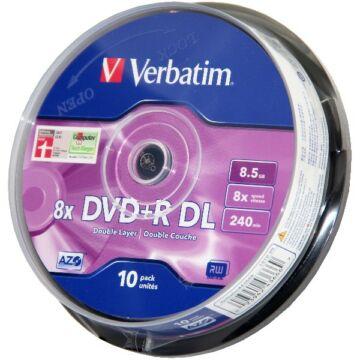 Verbatim DVD+R DL 8X 8,5 gB Lemez - Cake (10) - 43666