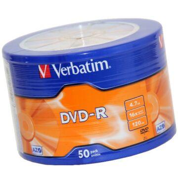 Verbatim DVD-R 16X Lemez - Shrink (50) - 43788