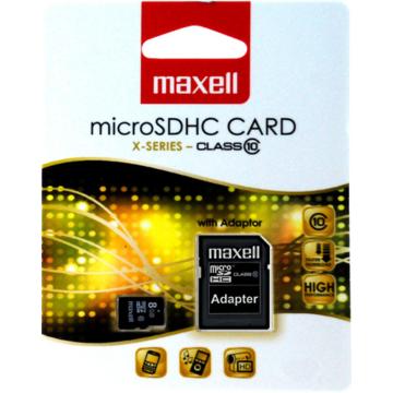 Maxell 8GB Micro SDHC Memóriakártya Class 10 + Adapter - 854716_00_TW