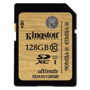 Kingston 128GB SDXC Memóriakártya UHS-I Class 10 (90/45 Mb/S) (SDA10/128GB) - SDA10_128GB