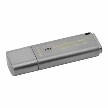Kingston DataTraveler Locker+ G3 64GB Pendrive - Titkosított - USB 3.0 (DTLPG3/64GB) - DTLPG3_64GB