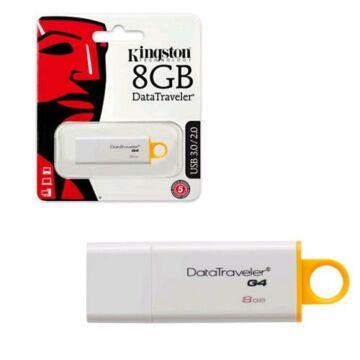 Kingston DataTraveler G4 8GB Pendrive USB 3.0 - Sárga (DTIG4/8GB) - DTIG4_8GB