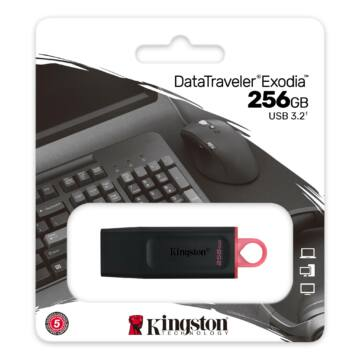 Kingston DataTraveler Exodia 256GB Pendrive USB3.2 Gen 1 (DTX/256GB)