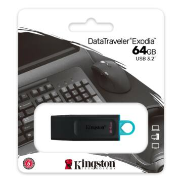 Kingston DataTraveler Exodia 64GB Pendrive USB3.2 Gen 1 (DTX/64GB)