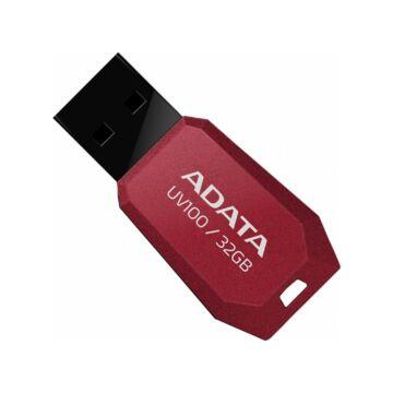 Adata UV100 Slim 32GB Pendrive USB 2.0 - Piros (AUV100-32G-RRD) - AUV100_32G_RRD