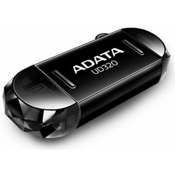 Adata UC320 16GB Pendrive USB 2.0 + Micro USB OTG - Android Telefonokhoz, Tabletekhez - Fekete (AUD320-16G-RBK) - AUD320_16G_RBK