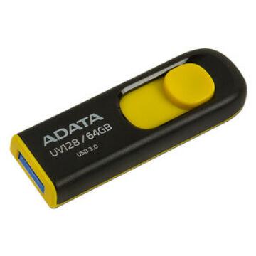 Adata UV128 64GB Pendrive USB 3.0 - Fekete-Sárga (AUV128-64G-RBY) - AUV128_64G_RBY