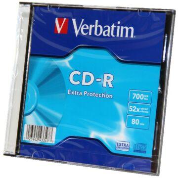 Verbatim CD-R Lemez - Slim Tokban (1) - 43347