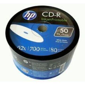 HP CD-R 52X 700Mb Nyomtatható Felületű Lemez - Shrink (50) - 14223
