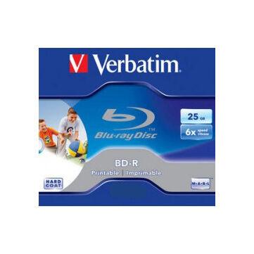 Verbatim BD-R 6X 25 GB Sl Teljes Felületén Nyomtatható Blu-Ray Lemez - Normál Tokban (1) - 43713