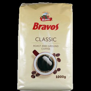Bravos Classic Pörkölt Őrölt Kávé 1000 Gr