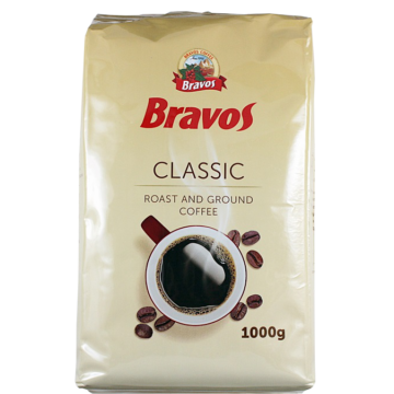 Bravos Classic Pörkölt Őrölt Kávé 1000 Gr - VKVB1000